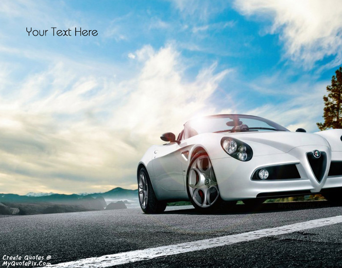 Design your own names of Alfa Romeo White Car