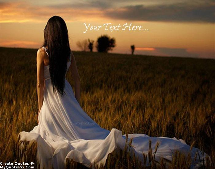 Alone Girl In Field Quote Maker
