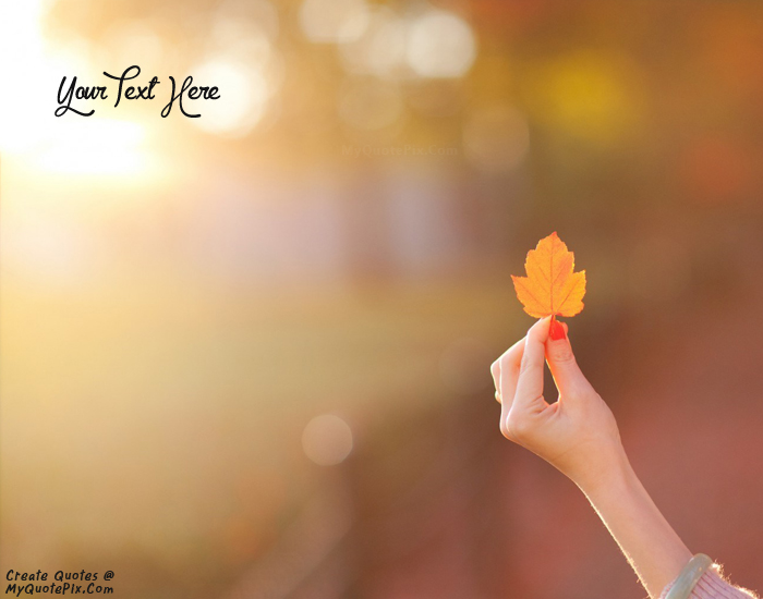 Design your own names of Autumn Leaf in Hand