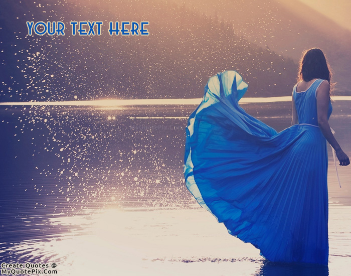 Design your own names of Beautiful Girl in Blue