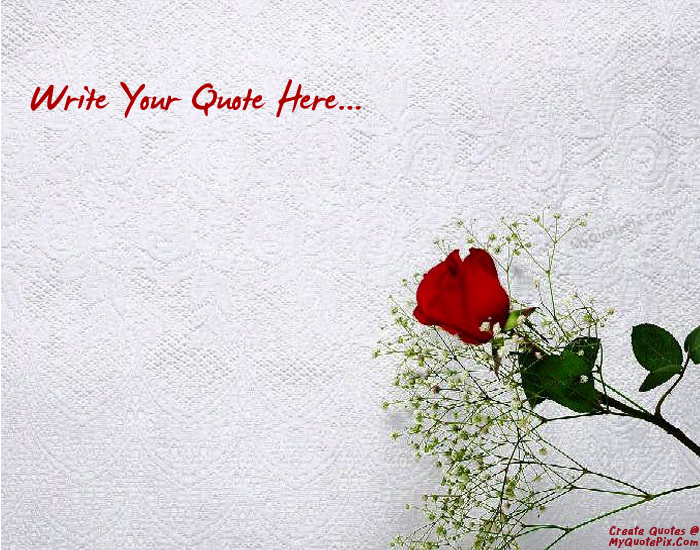 Write Quote On Beautiful Stem Flower Picture