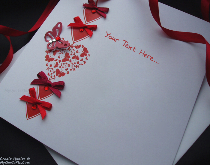 Write Quote on Beautiful Valentine Wish Cards 2015 Picture