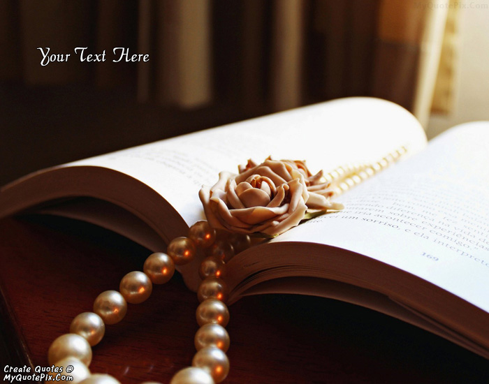 Design your own names of Book Beads White Rose