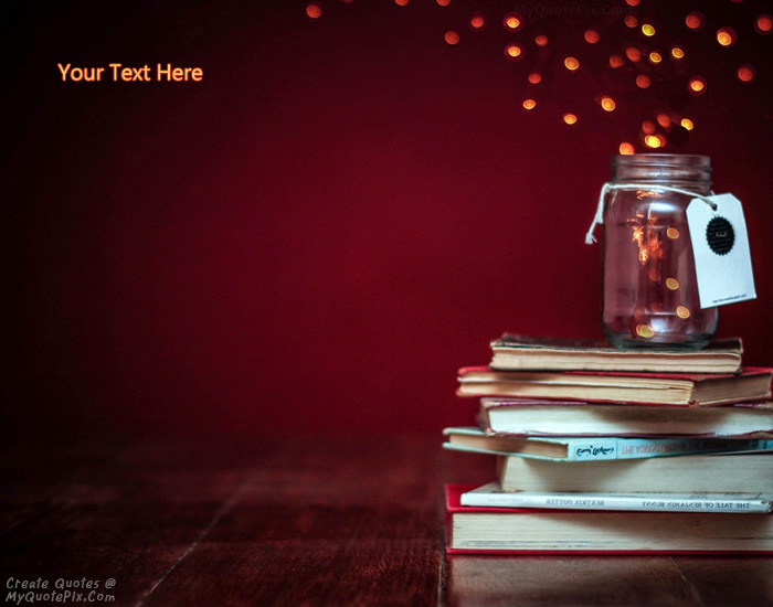 Design your own names of Books Jar Lights Bokeh
