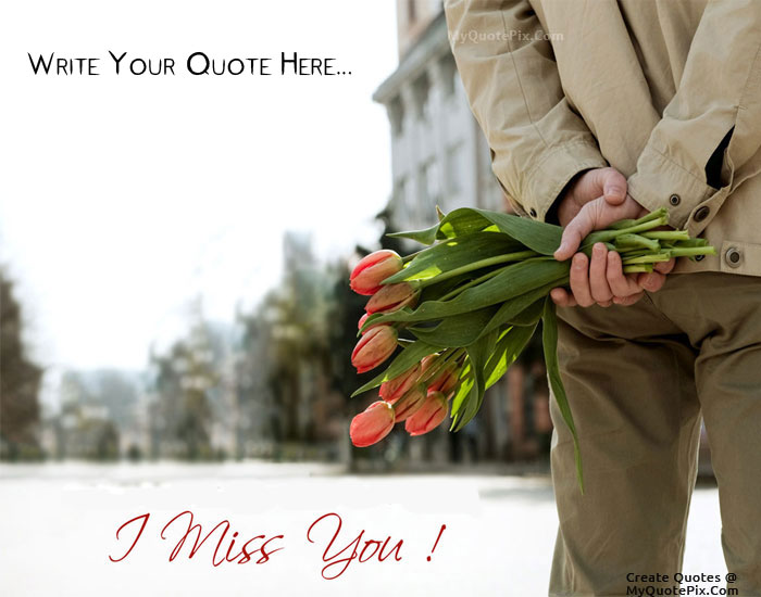 Design your own names of Boy Miss You With Flowers In Hand