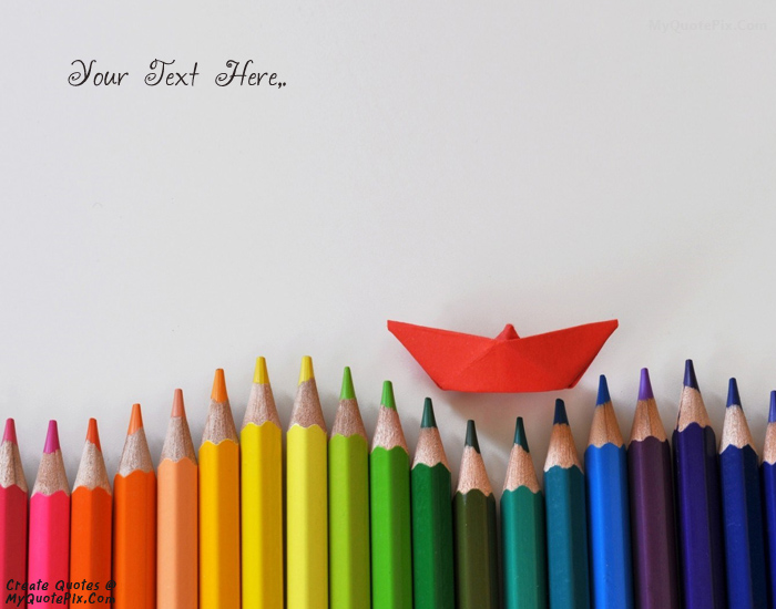 Design your own names of Colored Pencils Paper Boat