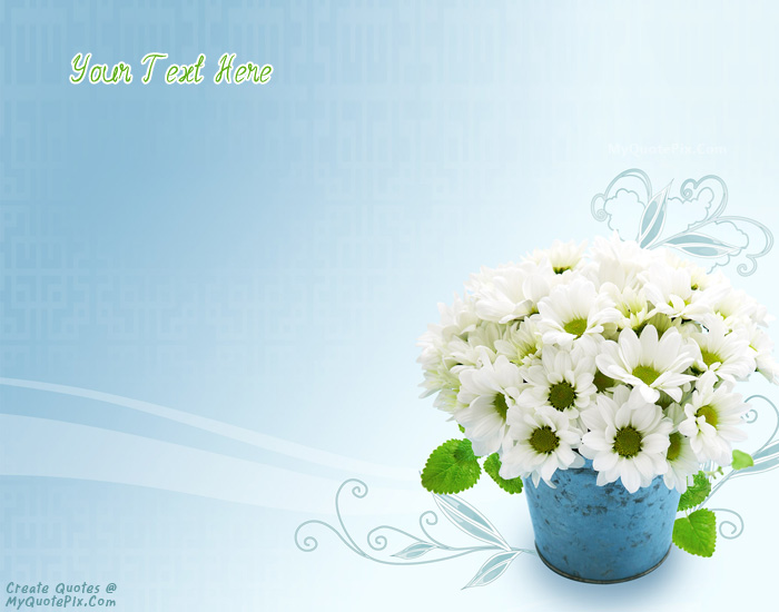 Write Quote on Colorful Flowers Bouquet Picture