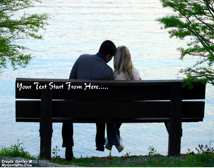 Design your own names of Couple On Bench