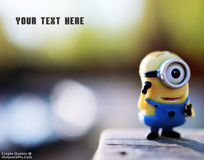 Design your own names of Cute Minion