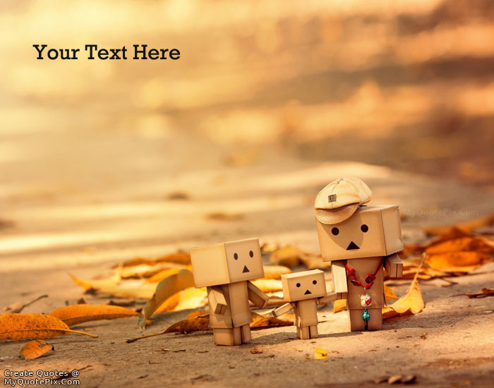 Design your own names of Danbo Family Love