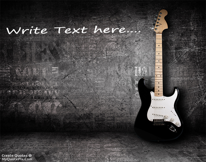 Design your own names of Electric Guitar