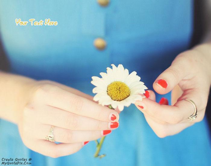 Design your own names of Flower Daisy Girl