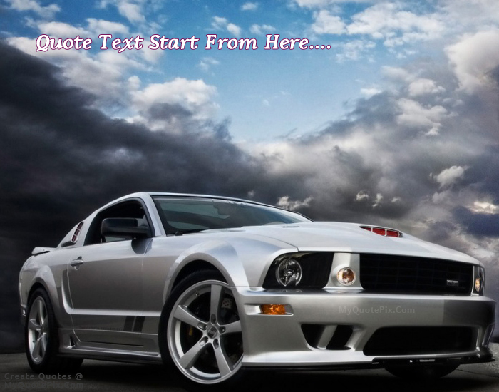 Write Quote On Ford Muscle Car Picture
