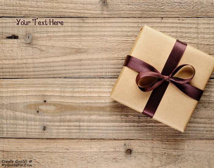 Design your own names of Gift Box