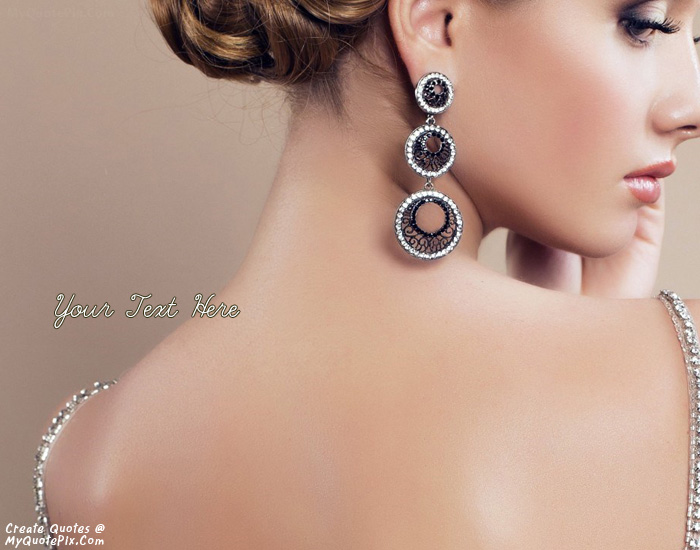 Design your own names of Girl Earrings Jewelry