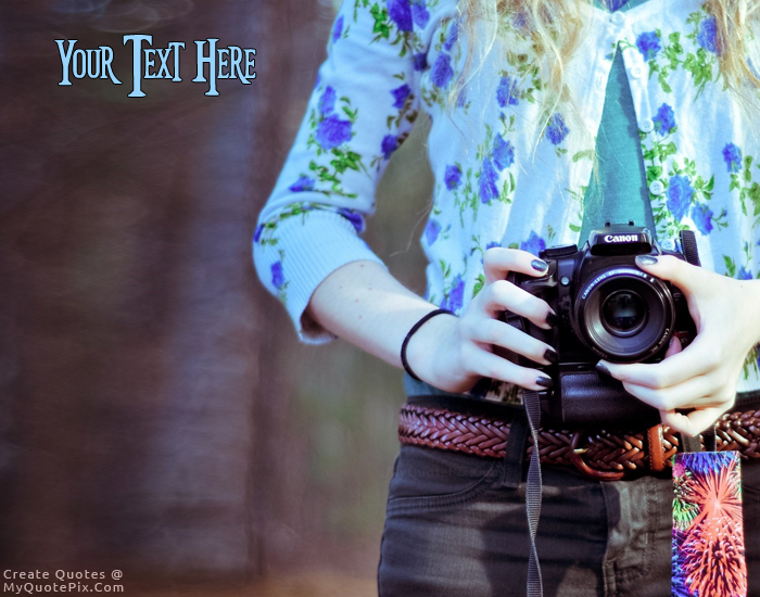 Design your own names of Girl Holding Camera