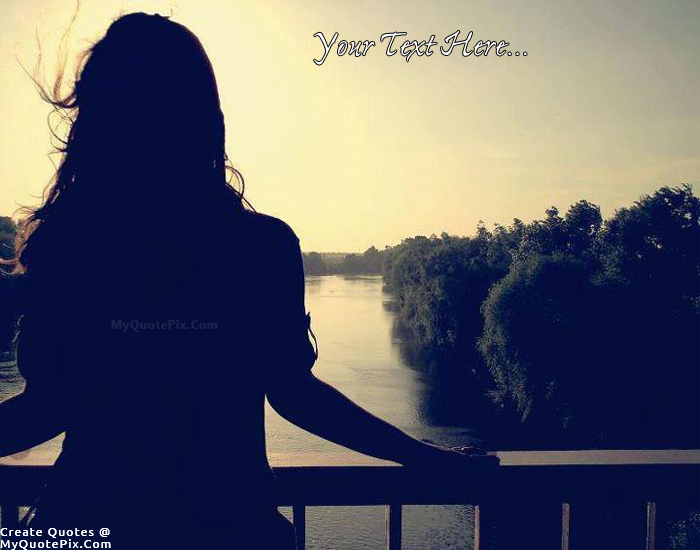 Write Quote on Girl Waiting Picture