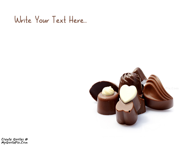 Design your own names of Happy Chocolate Day 9 February 2015