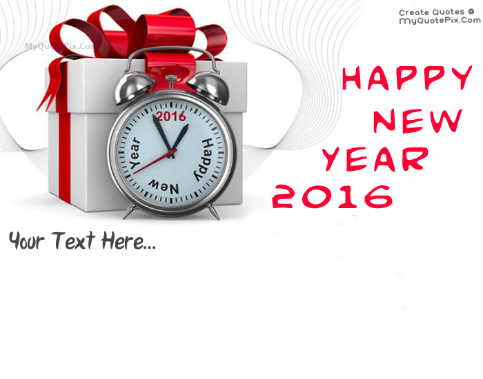 Design your own names of Happy New Year 2016 Greeting