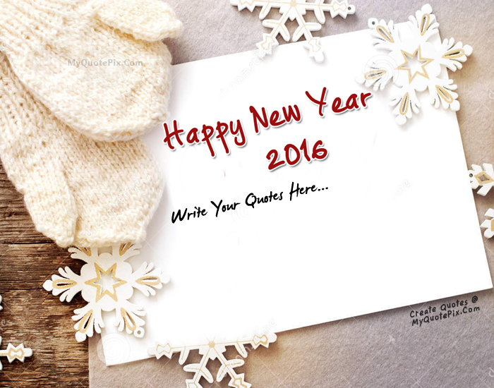 Design your own names of Happy New Year 2016