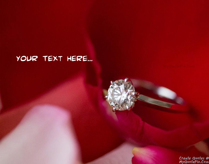 Design your own names of Happy Propose Day With Ring