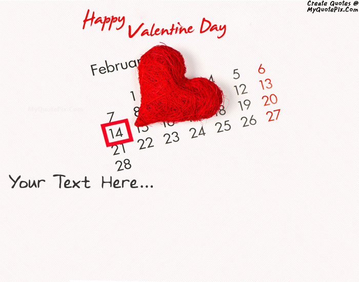 Design your own names of Happy Valentine Day 14 February 2015