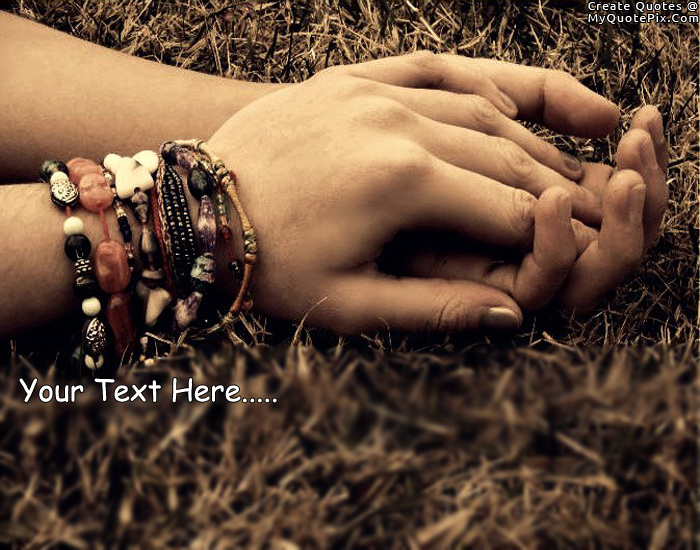 Design your own names of Hold My Hand