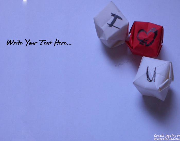 Design your own names of I Love You