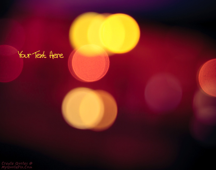 Design your own names of Lights Bokeh Photo