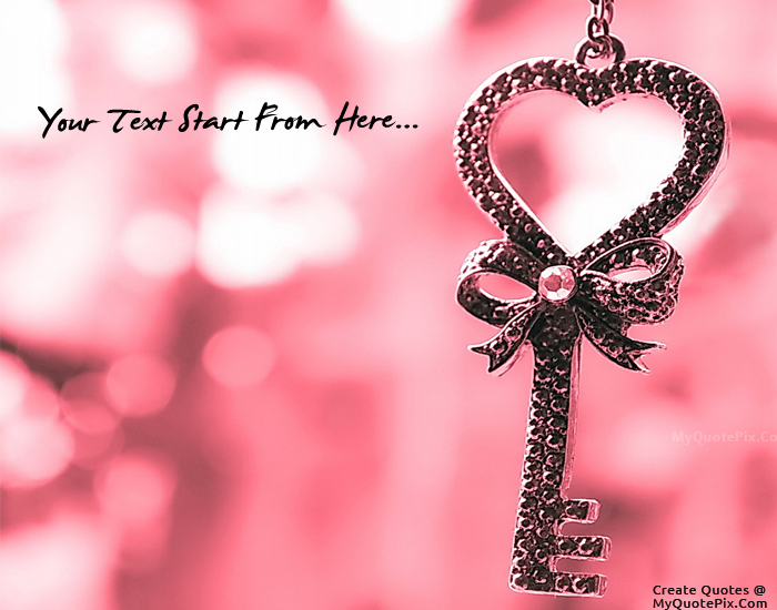 Write Quote on Love Key Picture