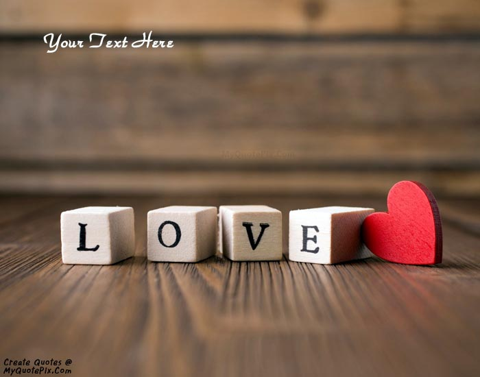 Design your own names of Love Letters Heart