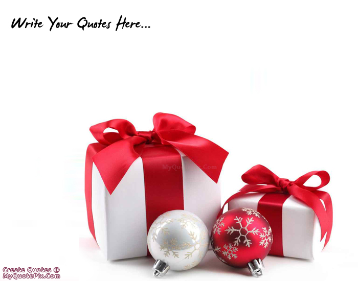 Merry Christmas Gift.Write Quote On Merry Christmas Gifts Picture