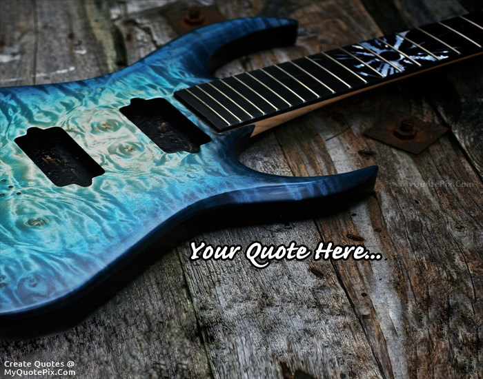 Design your own names of Metalic Blue Electric Guitar