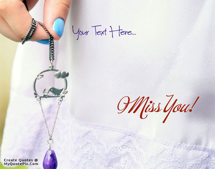 Design your own names of Miss You Dear