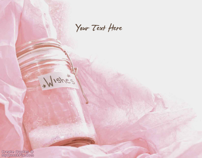 Design your own names of My Wish Jar