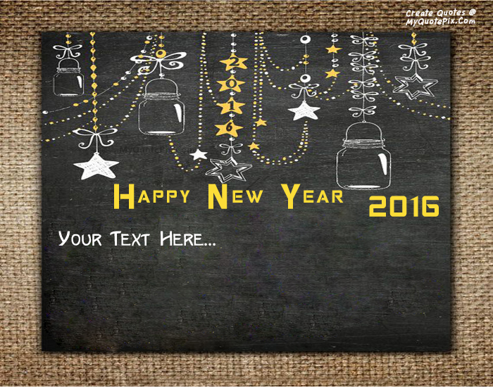 Design your own names of New Year 2016 Wish Cards