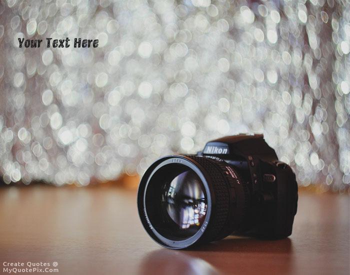 Design your own names of Nikon Hi Tech Camera
