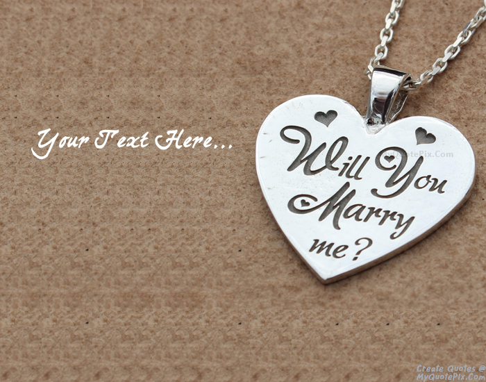Design your own names of Propose Day Will You Merry Me
