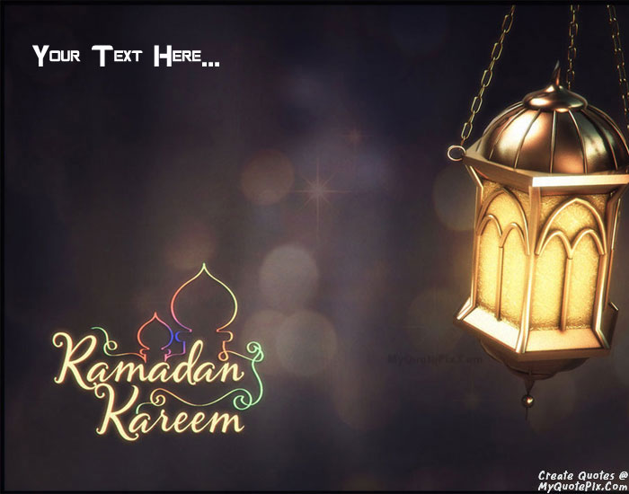 Design your own names of Ramadan Kareem Mubarak 2015