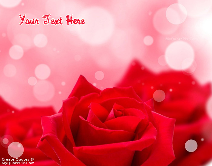 Design Your Own Names Of Red Rose Beauty