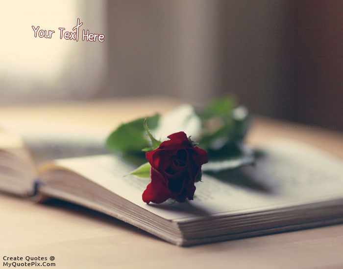 Design your own names of Rose and Book