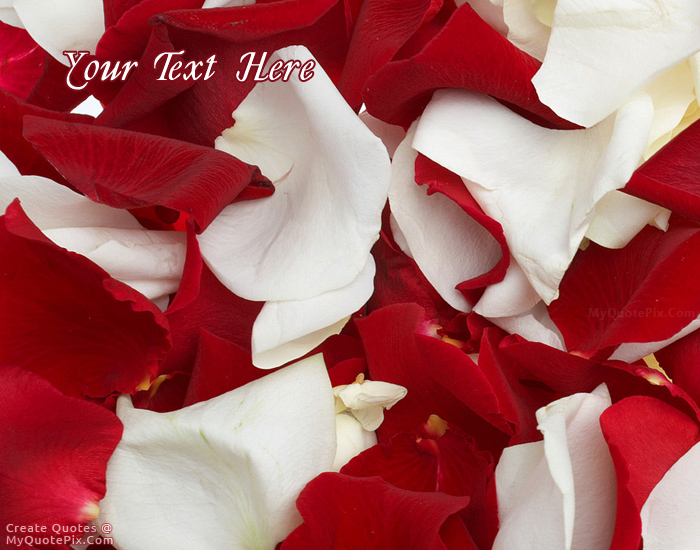 Design your own names of Rose Petals
