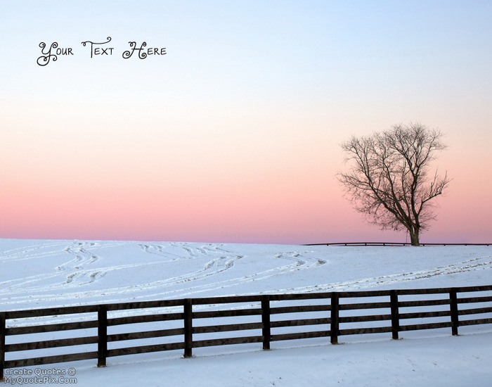 Design your own names of Snow fence life