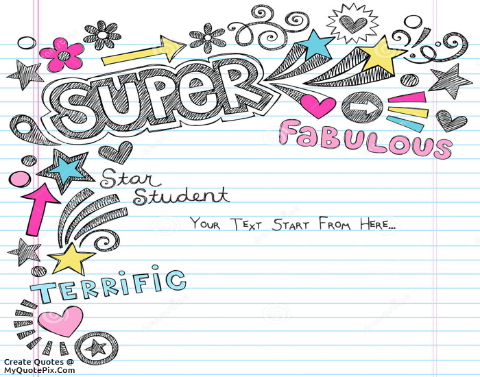 Design your own names of Student Notebook