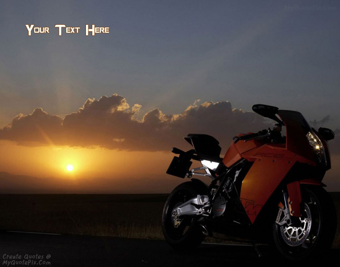 Design your own names of Sunset Heavy Bike
