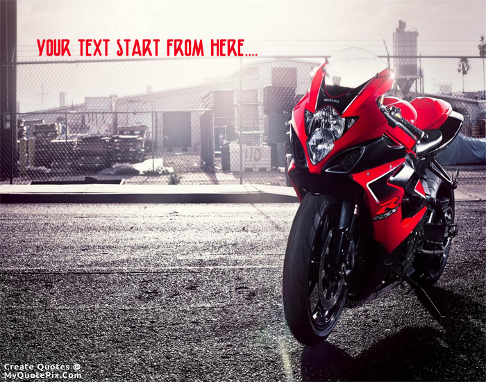 Design your own names of Suzuki GSX Bike
