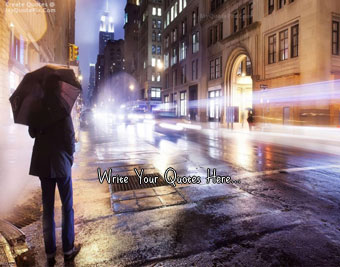 Boy In Rainy City Night quote pictures