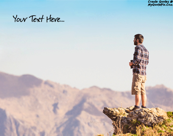 Boy On Mountain quote pictures