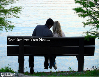 Couple On Bench quote pictures