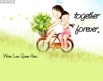 Cute Couple On Bicycle quote pictures